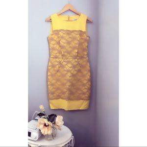 HP 🎉🎉🎉🎉Mod Cloth lace yellow dress